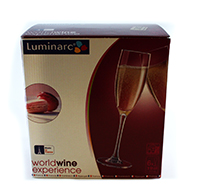 luminarc set pahare pentru vin cu picior 190 ml