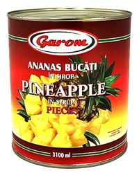garom ananas bucati