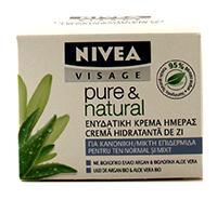 nivea pure & natural crema antirid