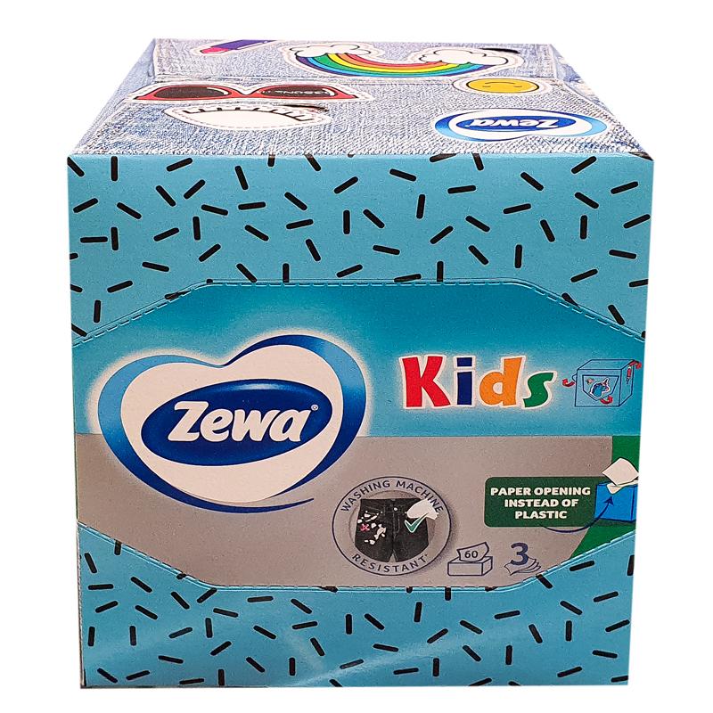 zewa facial zoo cub 3d servetele la cutie 60buc