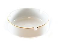 selgros scrumiera ceramica cu linie aurie 10 cm