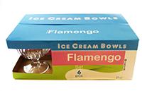 uniglass set cupe de inghetata flamengo 300 ml