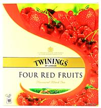 twinings ceai negru cu 4 fructe rosii