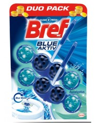 bref blue aktiv eucalyptus duo pack odorizant wc