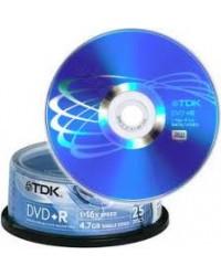 tdk dvd+r/16x cake x25