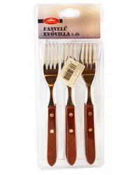 korona set furculite pentru masa cu maner din lemn