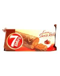 7 days rulada cu  glazura cacao