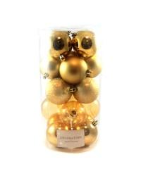 regency set 20 globuri aurii 6cm