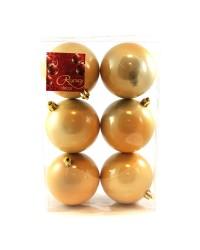 regency set 6 globuri aurii 80mm