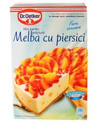 dr. oetker mix pentru prajitura  melba cu piersici